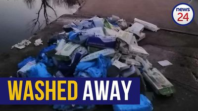 WATCH | Washed away: Boxes of PPE found drifting in a river near Centurion