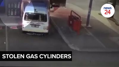 WATCH | 31 gas cylinders stolen from petrol station in Midrand, loaded into minibus taxi
