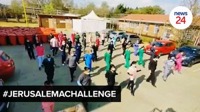 WATCH | Health workers across SA raise spirits by joining in on the #Jerusalemachallenge