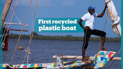 World's first recycled plastic boat departs Kenya