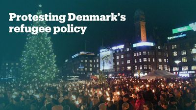 Thousands in Denmark protest against plans to move refugees to island