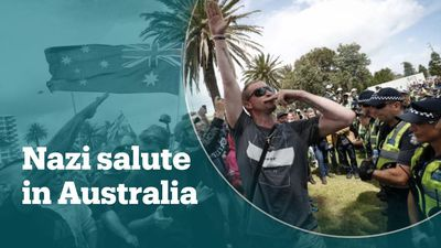 Nazi salute at far-right rally in Australia