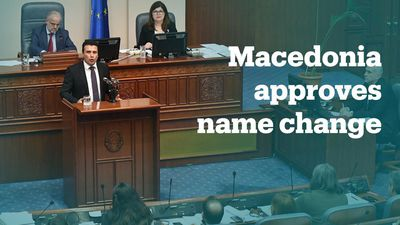 Macedonia approves changing the country's name