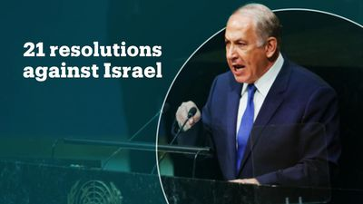 Netanyahu accuses the UN of singling out Israel