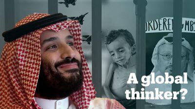 Was Mohammed bin Salman just listed as a 'global thinker'?