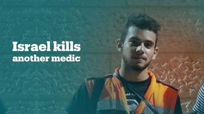 Israeli soldiers kill 18-year-old Palestinian medic