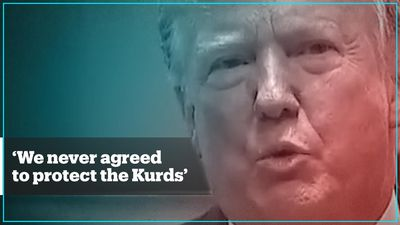 US President Trump says the US 'never agreed to protect the Kurds'
