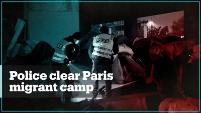 French police clear migrant tent camps in Paris