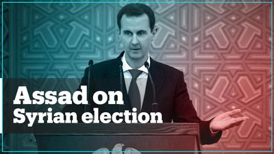 Assad's comments about Syria's election mocked by people online