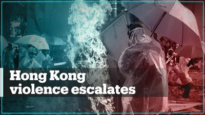 Violent protests continue in Hong Kong