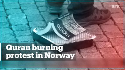 In Norway, far-right group SIAN held a Quran burning protest
