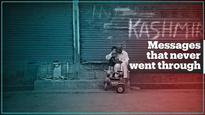 Kashmiris who are disconnected from loved ones send messages back home