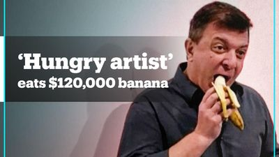 'Hungry artist' eats $120,000 banana