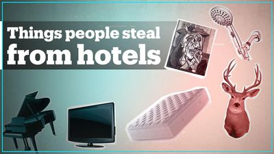 What's the most bizarre item stolen from a luxury hotel?