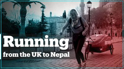 British woman runs from England to Nepal for charity