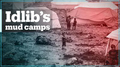 Internally displaced Syrians are living in mud camps