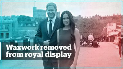 London museum removes waxworks of Prince Harry and his wife Meghan