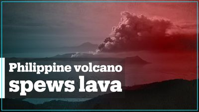 Thousands evacuated as volcano spews ash in the Philippines