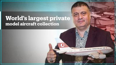 Turkish man has 'world's largest' private model aircraft collection