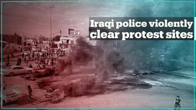 Iraqi security forces violently clear protest sites