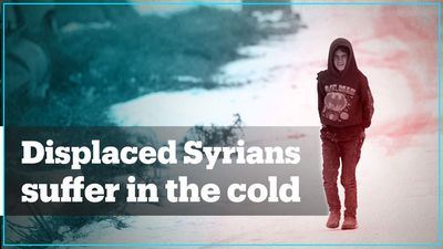 Displaced Syrians suffer in the cold