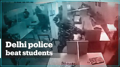 Footage shows Indian police beating students in university library