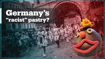 Germany's dark-glazed pastries with thick lips and fez hats spark racism debate