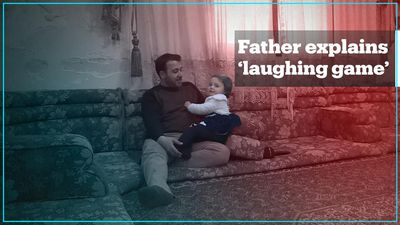 Syrian father who taught daughter 'laughing game' explains his story