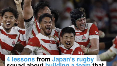 4 lessons from Japan's rugby team about building a squad that succeeds against the odds
