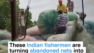 These Indian fisherman are turning abandoned nets into eco-friendly surfboards