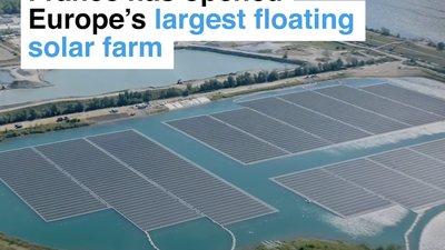 France has opened Europe's largest floating solar farm