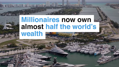 Millionaires now own almost half of the world's wealth