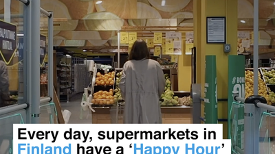 Every day, supermarkets in Finland have 'Happy Hour' to cut food waste