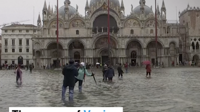 The Mayor of Venice blames record floods on climate change