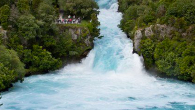 Check Out The Bluest Waterfall We've Ever Seen!