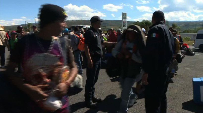 Central American migrants wait for rides to pursue journey to US