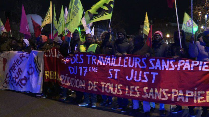 Thousands in Paris march on International Migrants Day