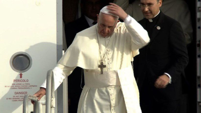 Pope Francis lands in Panama City for 2019 World Youth Day