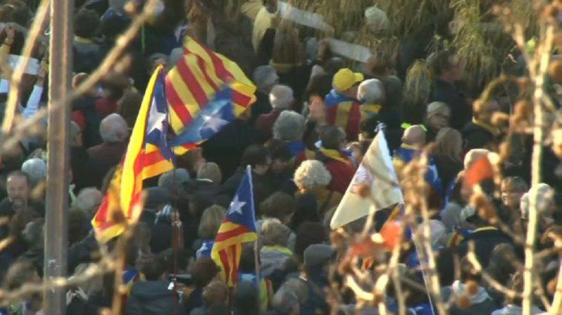 Spain: Protest against the trial of Catalan independence leaders