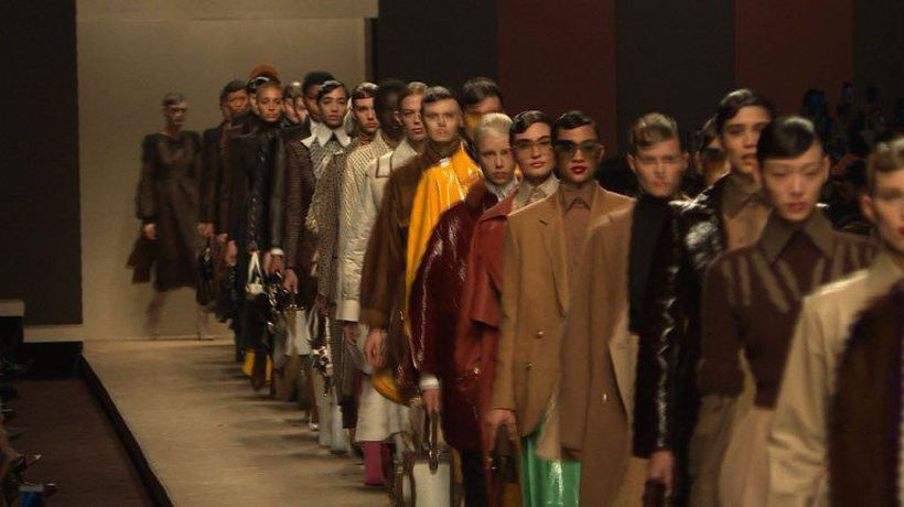 Fendi shows Lagerfeld's last collection in Milan