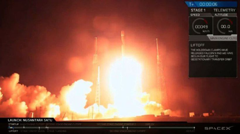 SpaceX rocket carrying Moon-bound Israeli spacecraft lifts off