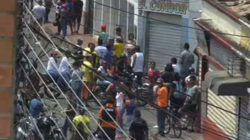 Venezuelans in the streets after clashes near Colombia border