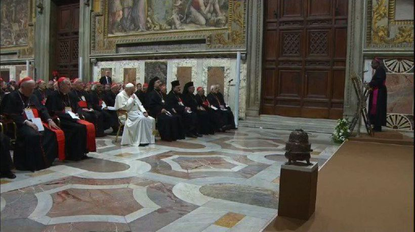 Pope hosts summit on abuse where cardinal admits files destroyed