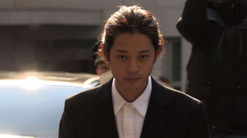 K-pop star Jung Joon-young arrives at police station