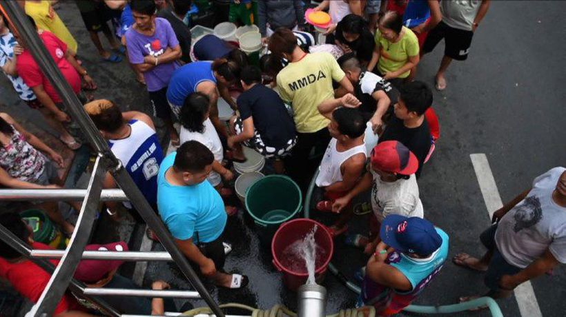 Millions hit in Manila water shortages