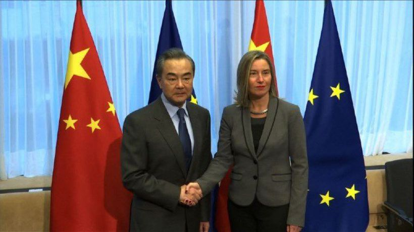 Top EU diplomat Mogherini meets Chinese Foreign minister