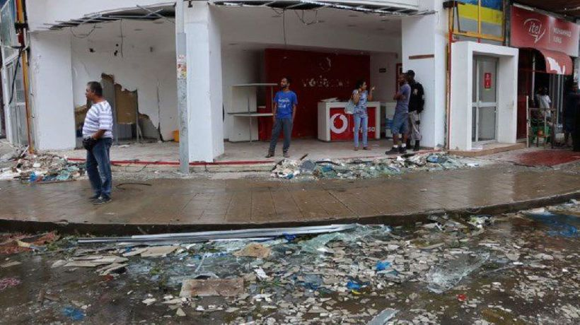 Major damage in Beira, Mozambique after cyclone Idai