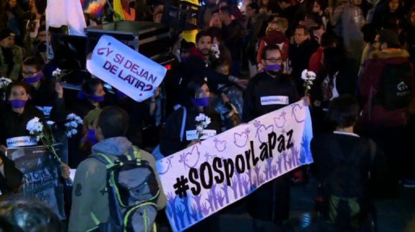 Protest against Duque's reforms of peace agreement with FARC