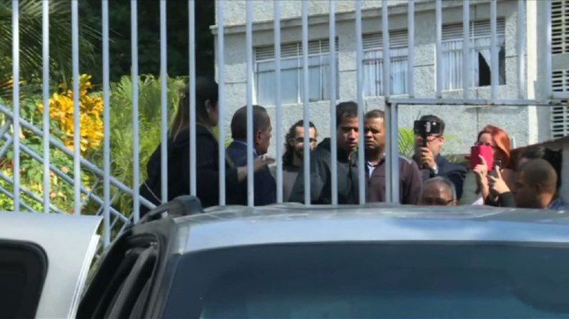 Venezuela's Guaido leaves Marrero's house after arrest