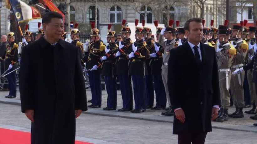 Ahead of talks, Macron and Xi pay tribute at Arc de Triomphe